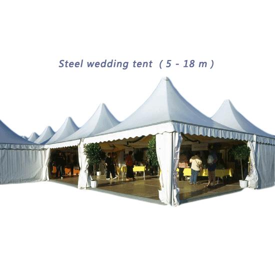 Steel wedding tent (5 - 18 m)