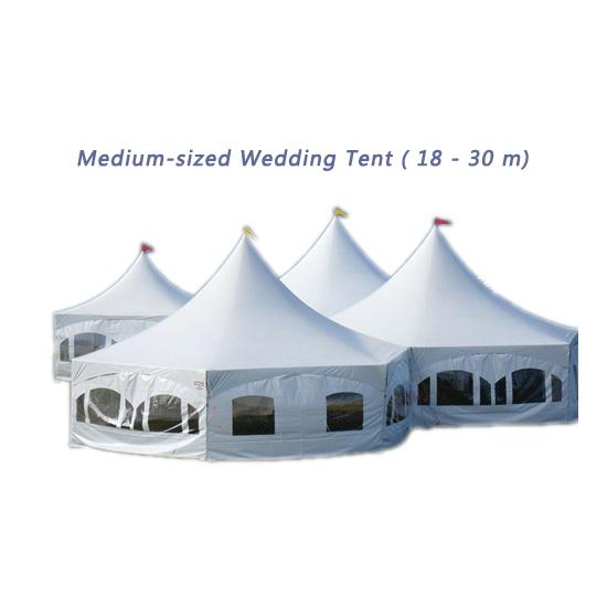 Medium-sized Wedding Tent (18 - 30 m)