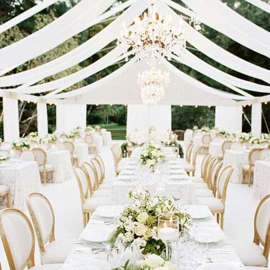 Wedding tent decoration - veils