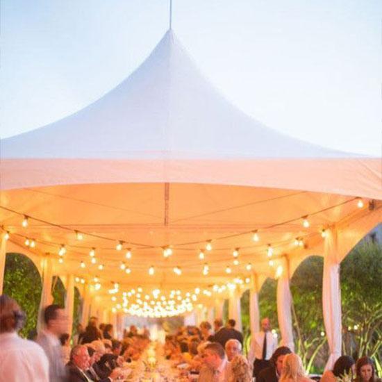 Wedding tent decoration - Lighting