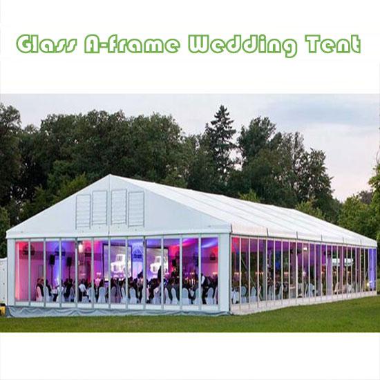 Glass A-frame Wedding Tent