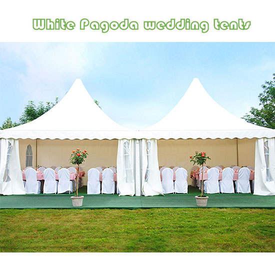 White Pagoda wedding tents
