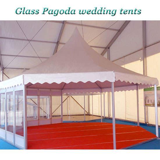 Glass Pagoda wedding tents
